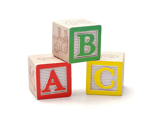 alphabet de blocs - cube photos et images de collection