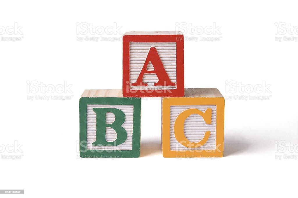 ABC Alphabet Blocks, Stacked stock photo