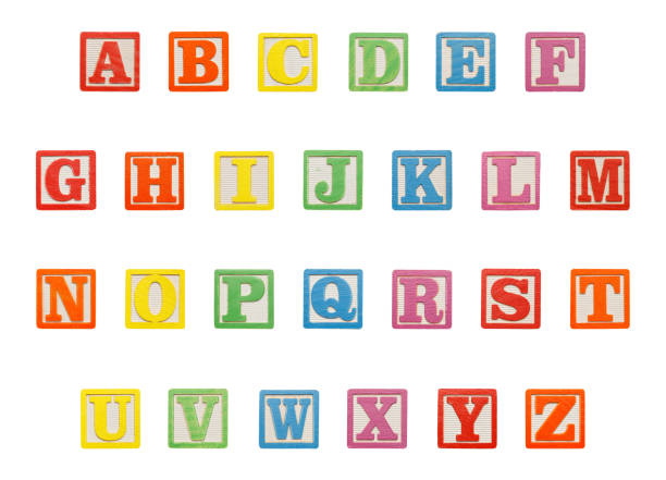Alphabet Blocks Top stock photo