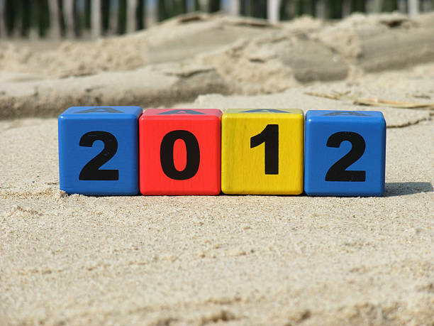 Alphabet Blocks: Year 2012  2012 stock pictures, royalty-free photos & images