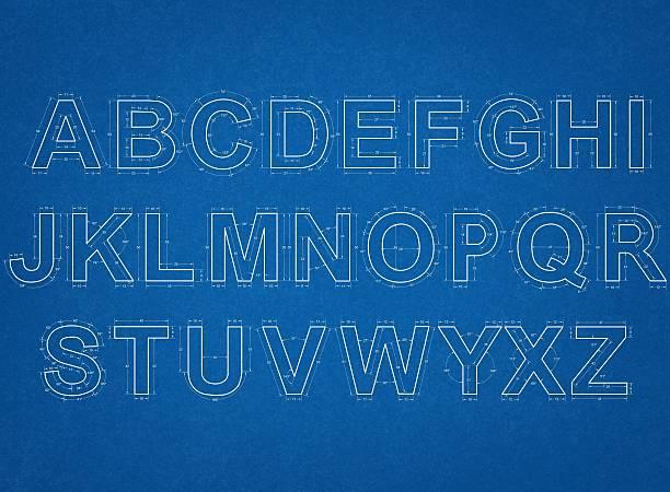 alphabet Technische Zeichnung – Foto