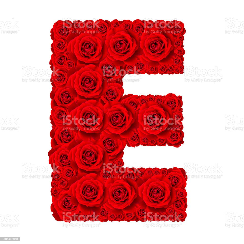 Alphabet capital letter e made from red rose stock photo more alphabet capital letter e made from red rose royalty free stock photo altavistaventures Images