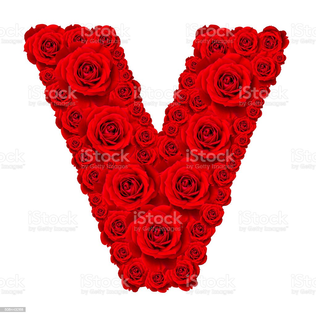 Alphabet capital letter v made from red rose stock photo more alphabet capital letter v made from red rose royalty free stock photo altavistaventures Choice Image