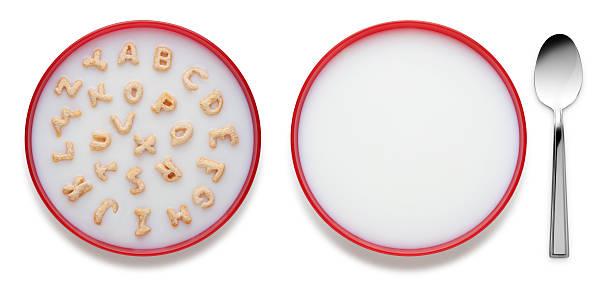 Alphabet Cereal Bowl stock photo