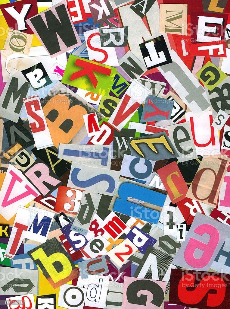 XXL Alphabet chaos royalty-free stock photo