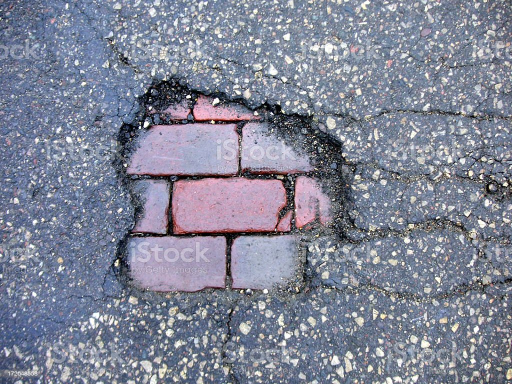 Alphabet City Pothole 01 royalty-free stock photo