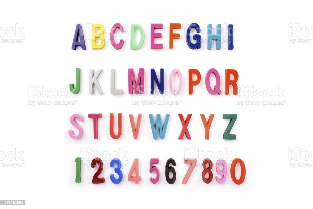 Alphabet colored stock photo