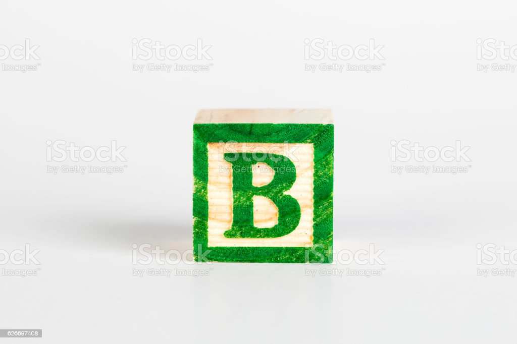 Letter B Alphabet Cubes Font Stock Photo - Download Image
