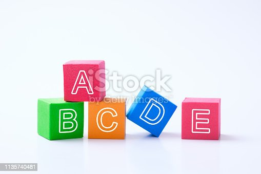 istock ABC alphabet cubes for early child education concept 1135740481