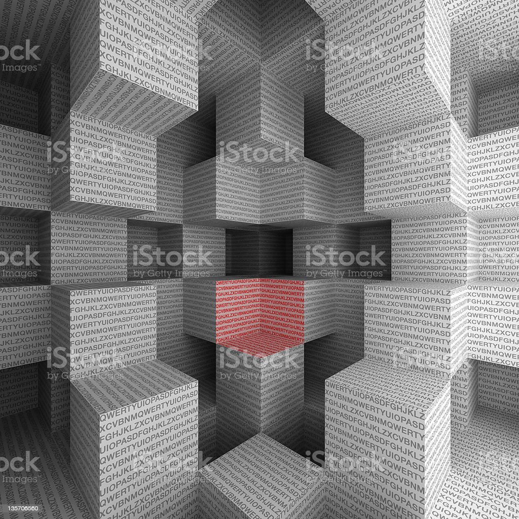 Alphabet cubes royalty-free stock photo