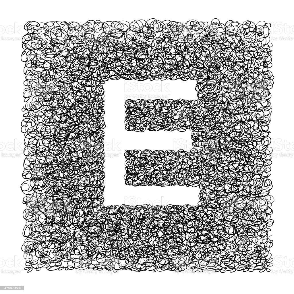 Alphabet E stock photo