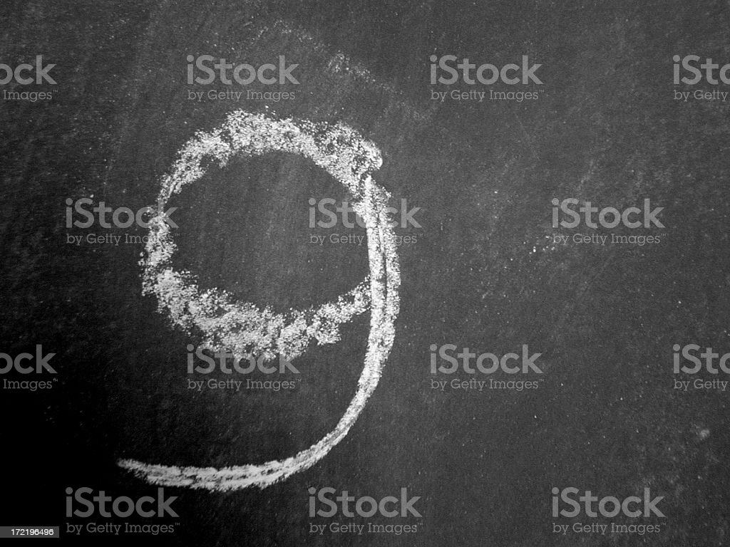 Alphabet - g - Chalk royalty-free stock photo
