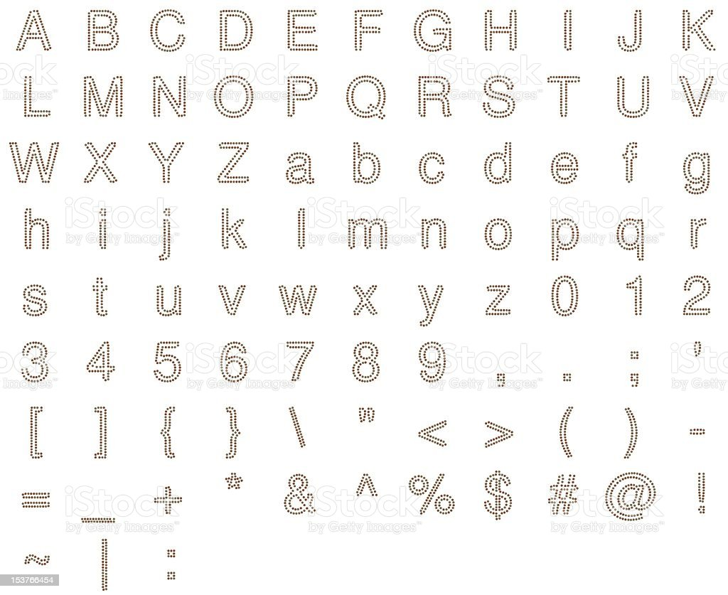 Alphabet in Coins royalty-free stock photo
