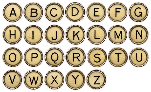 ALphabet in typewriter keys stock photo