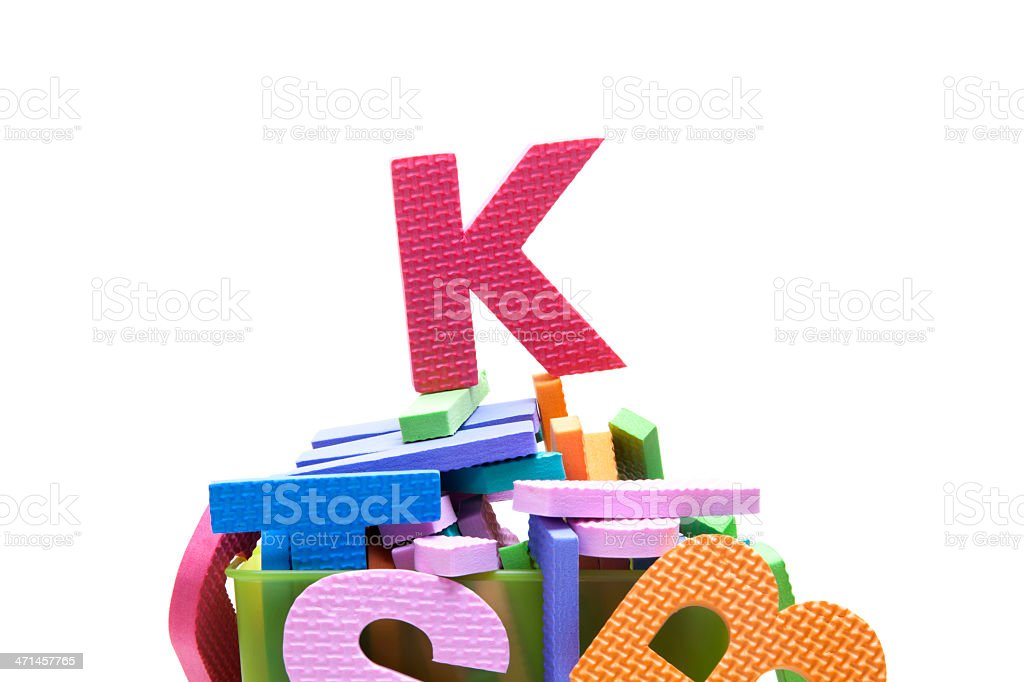 alphabet K royalty-free stock photo