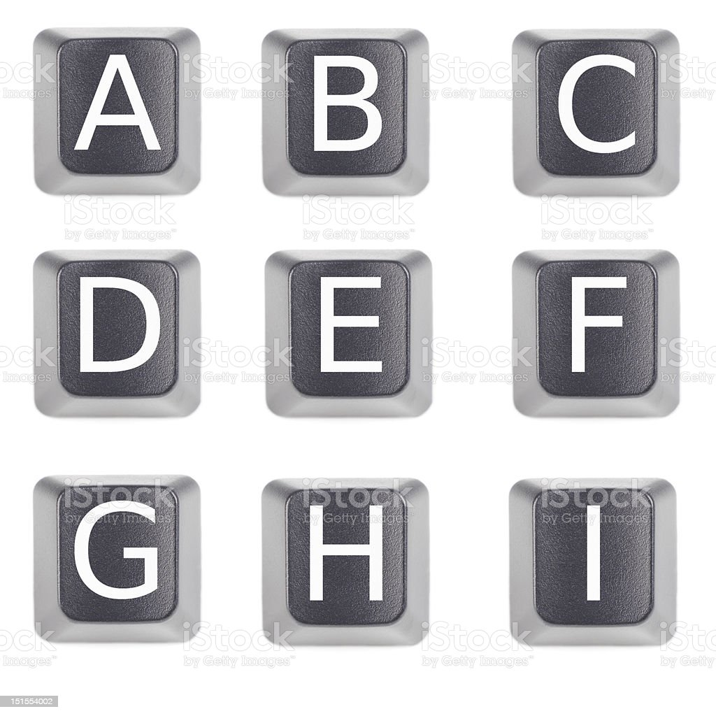 alphabet keyboard letter stock photo