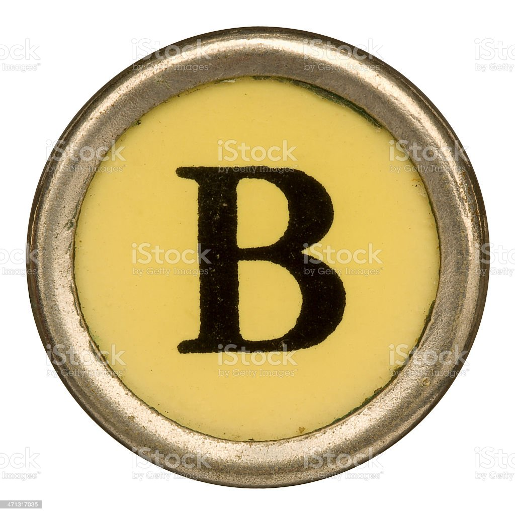 Alphabet - Letter B from old Manual Typewriter. royalty-free stock photo