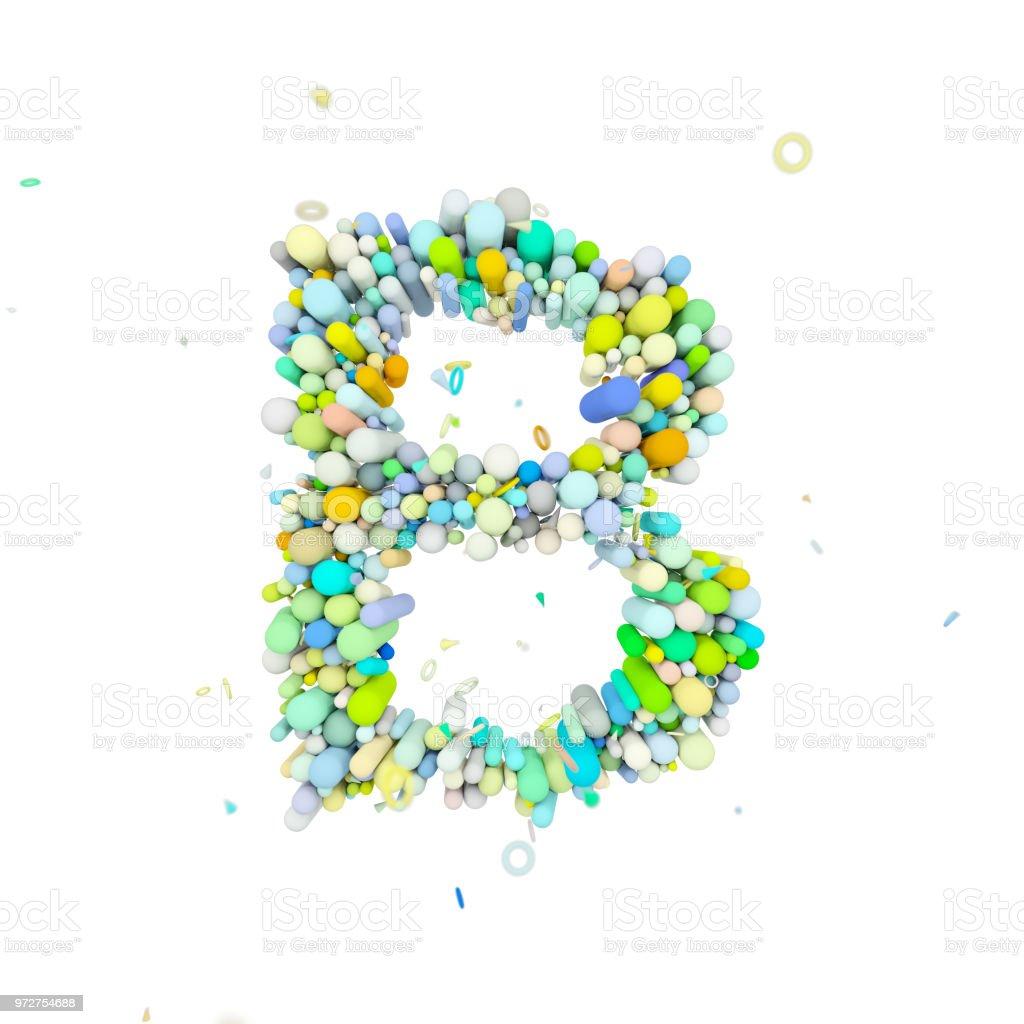 Alphabet Letter B Uppercase Funny Font Made Of Plastic