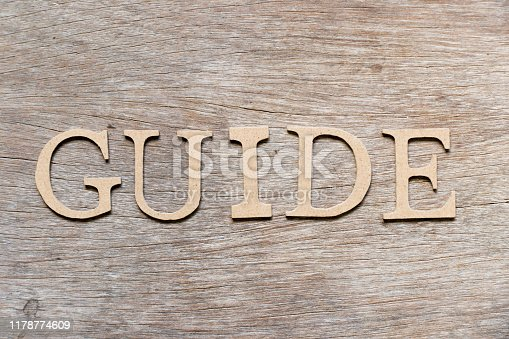 815359666 istock photo Alphabet letter in word guide on wood background 1178774609