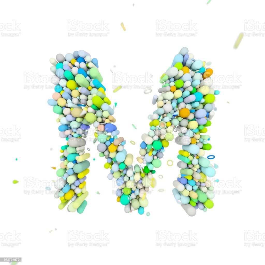 Alphabet Letter M Uppercase Funny Font Made Of Plastic