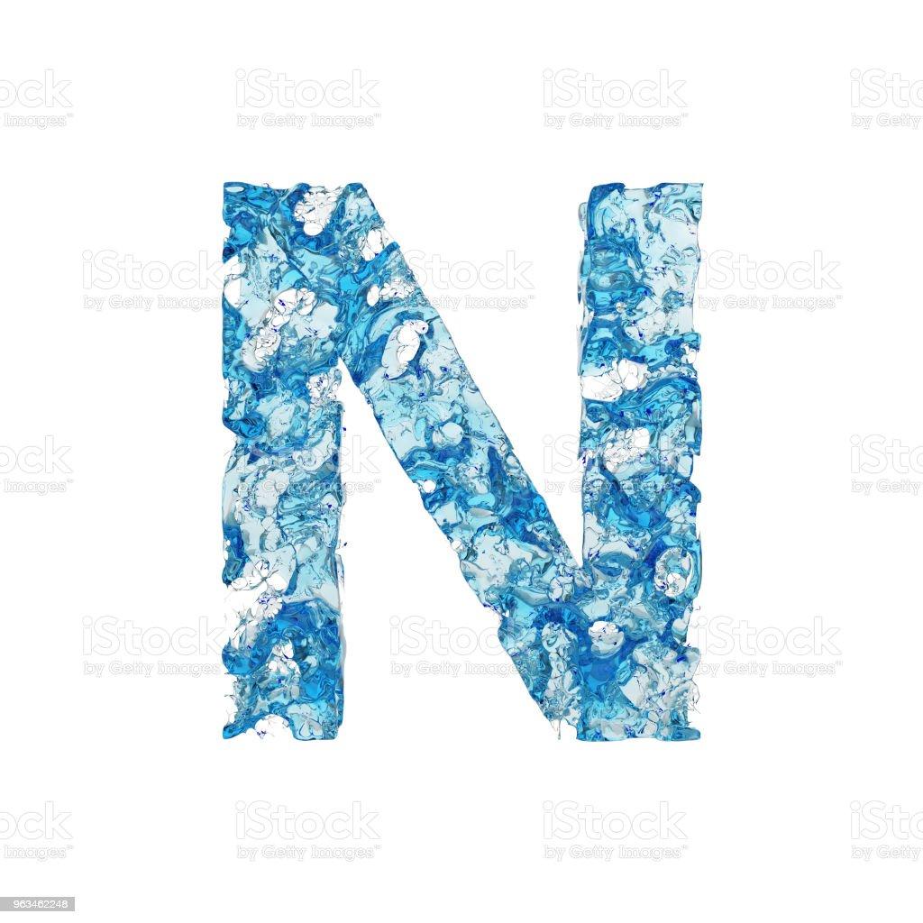 Photo libre de droit de Lettre Alphabet N Majuscule Fonte Liquide ...