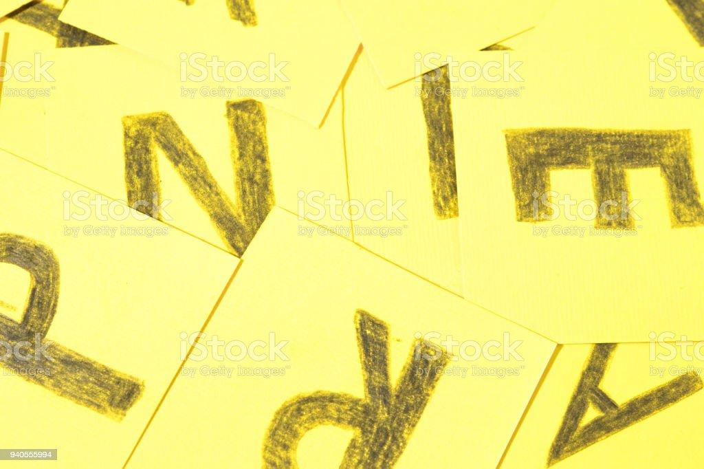Alphabet letters handwrite background stock photo