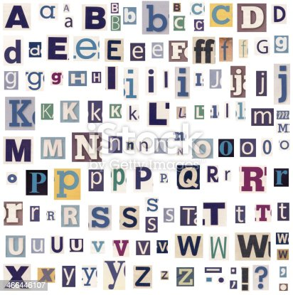 812461124istockphoto alphabet letters made of newspaper and magazine 466446107