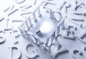 istock 3D alphabet letters on a white table 466196618