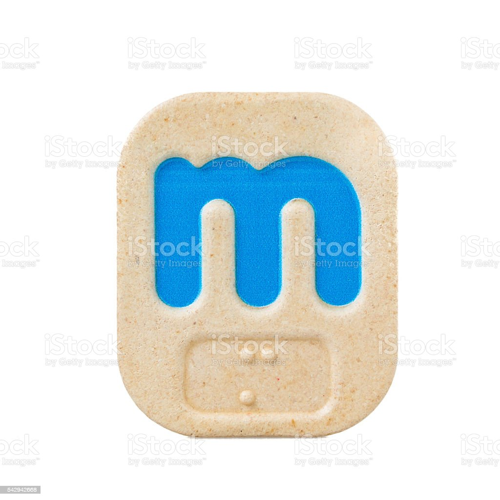 alphabet m on white background  with Braille stock photo