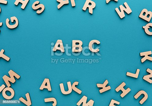 istock Alphabet made of wooden letters 868866674