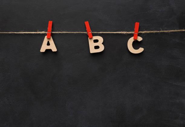 Alphabet en lettres en bois - Photo