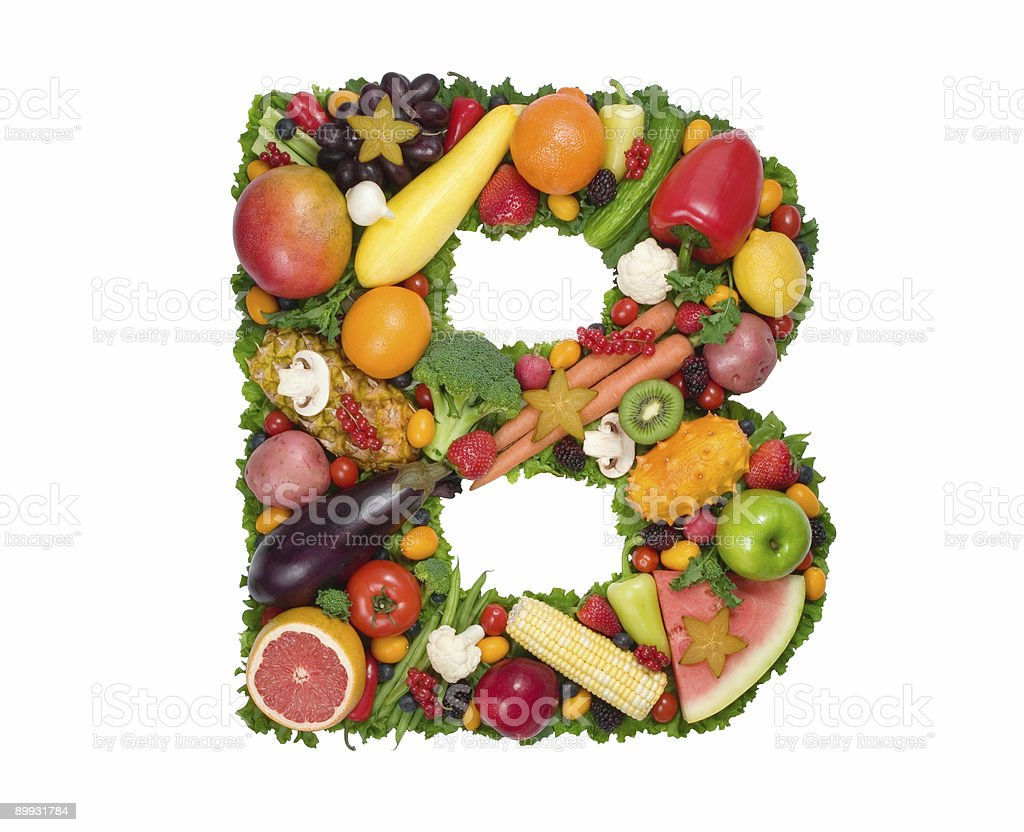 Alphabet of Health - B stock photo