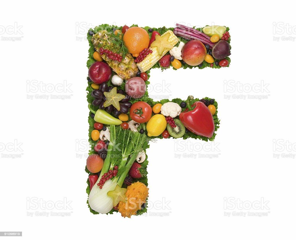 Alphabet of Health - F stock photo