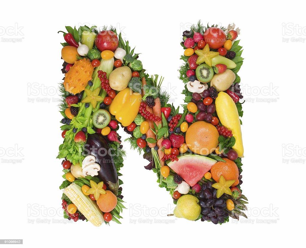 Alphabet of Health - N royalty-free stock photo