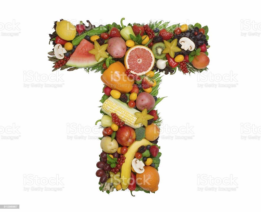 Alphabet of Health - T royalty-free stock photo