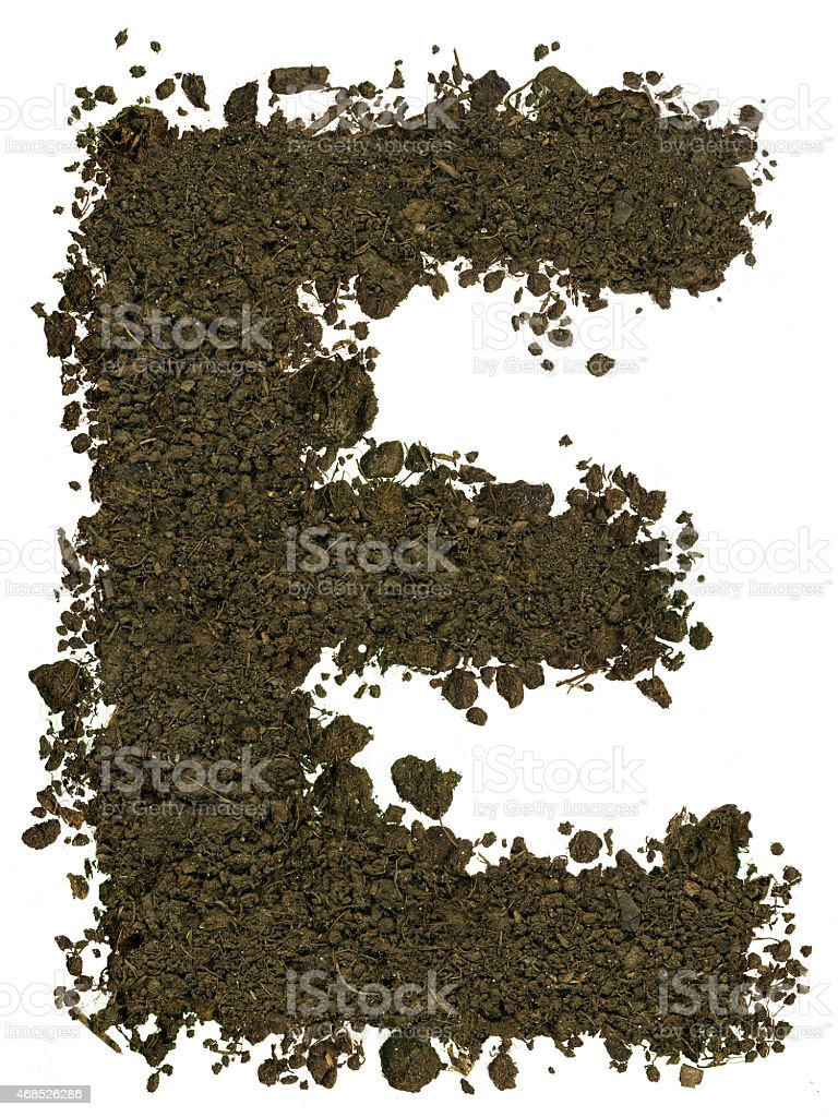Alphabet Of Soil Block Capitals Letter E Stock Photo  More Pictures