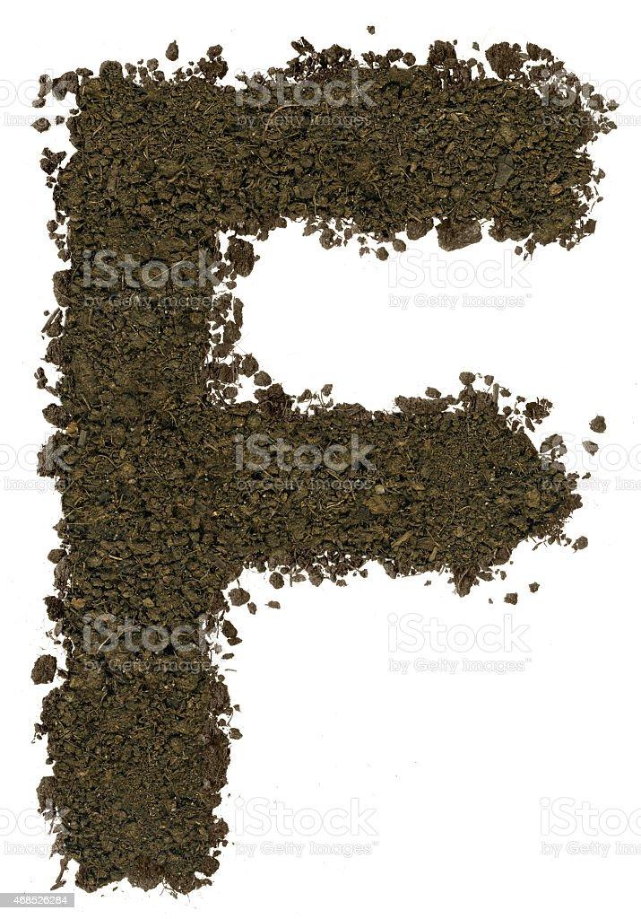 Alphabet der Erde.   Großbuchstaben geschrieben.   Buchstabe F – Foto