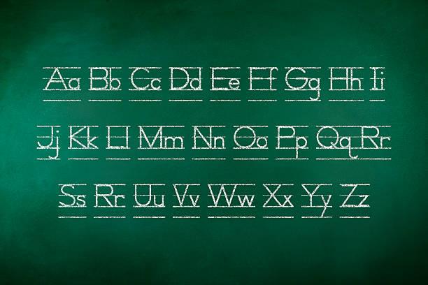 Lettre de l'Alphabet sur le tableau - Photo