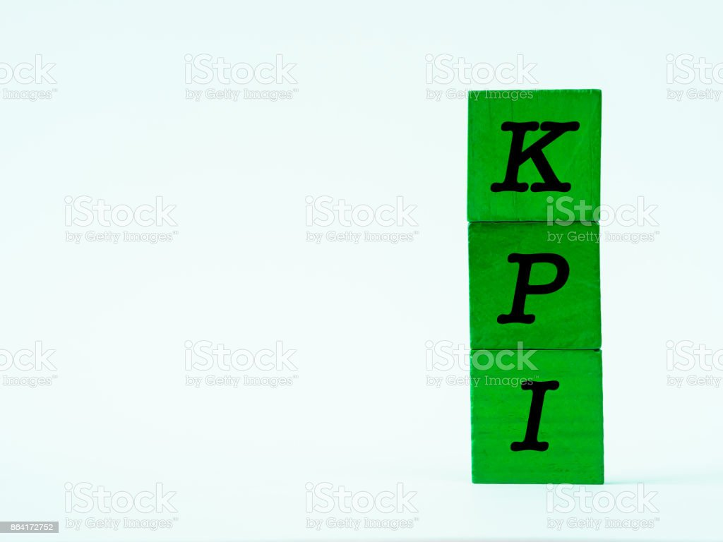KPI alphabet on white table background. royalty-free stock photo