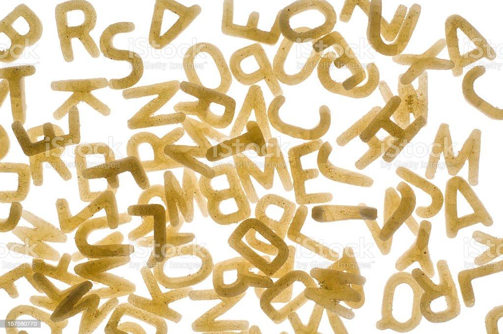 Alphabet Nudeln Buchstaben auf Weiß – Foto