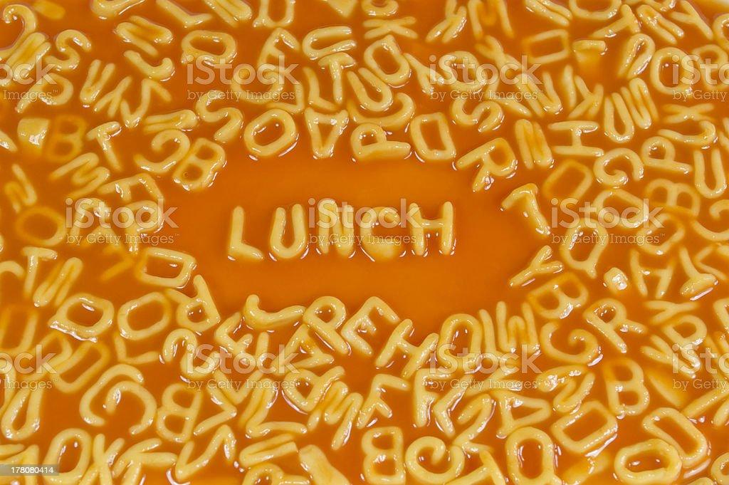 Alphabet Pasta-Mittagessen – Foto