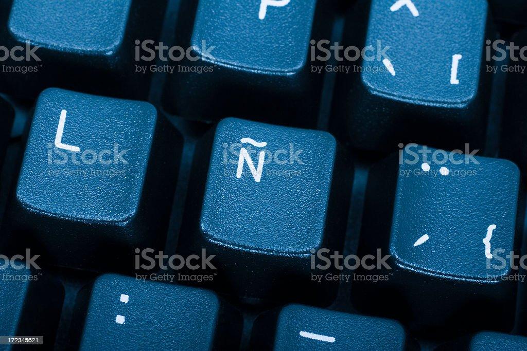 Alphabet Ñ royalty-free stock photo