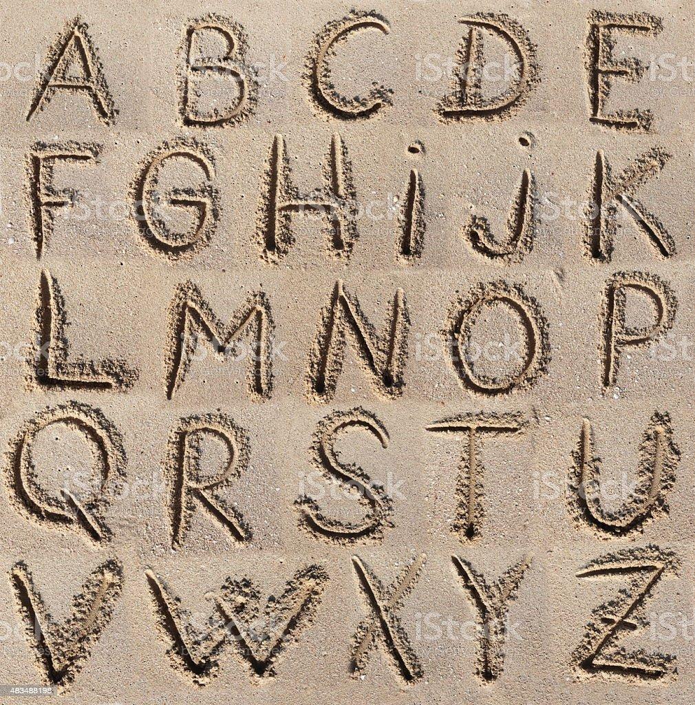 Alphabet (ABC). stock photo