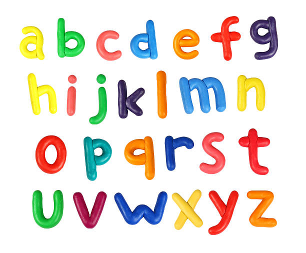 Alphabet  clay stock pictures, royalty-free photos & images