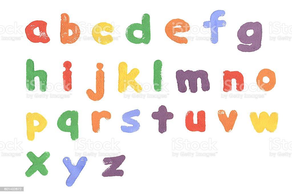 Alphabet printed on white background - foto de stock