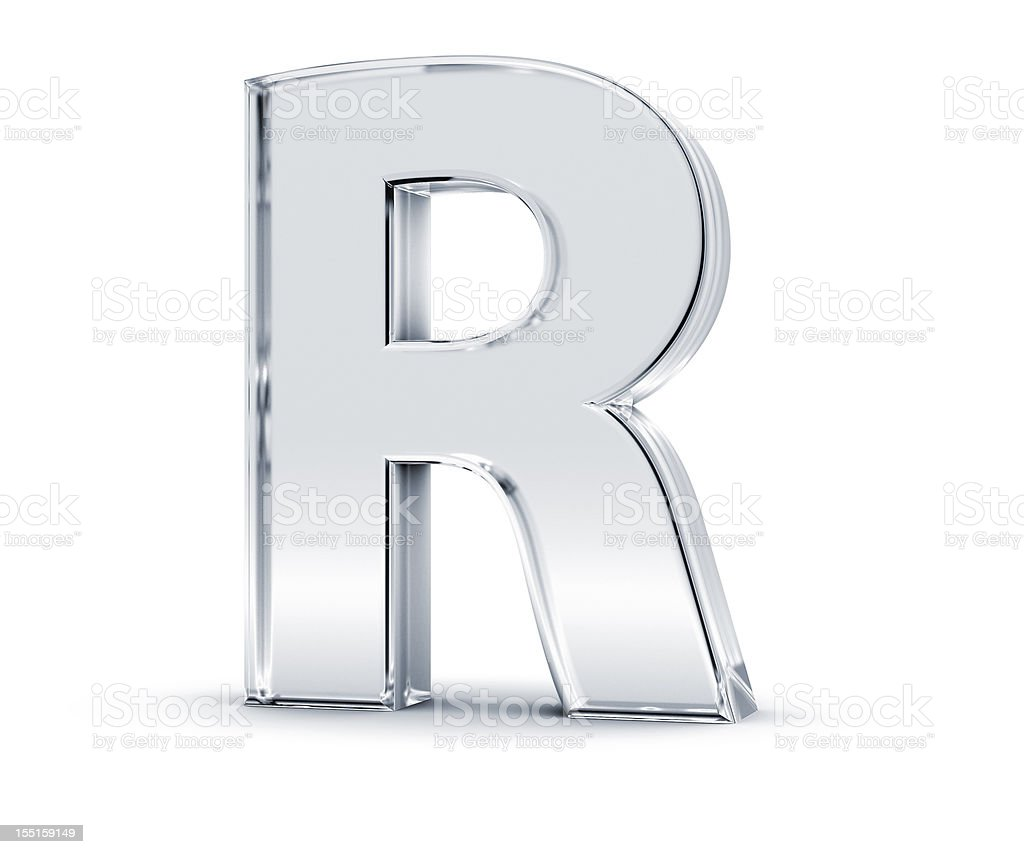 Alphabet R royalty-free stock photo