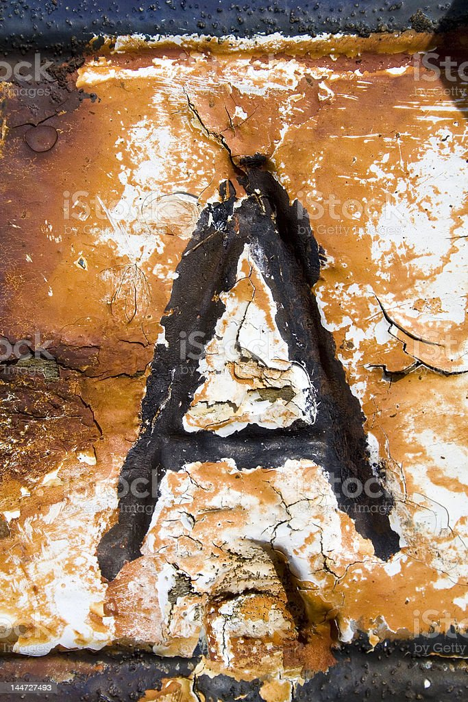 Alphabet Series Letter A royalty-free stock photo