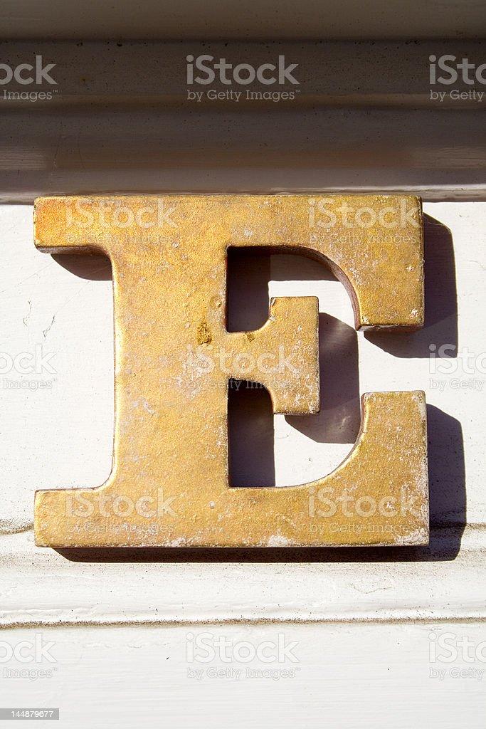 Alphabet Series Letter E royalty-free stock photo