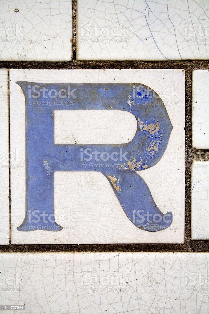 Alphabet Series Letter R royalty-free stock photo