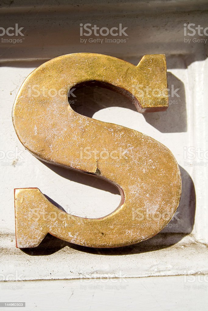 Alphabet Series Letter S royalty-free stock photo